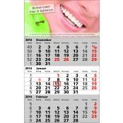 Günstige 3-Monats-Kalender mit Firmenlogo