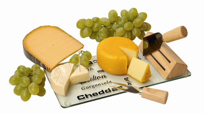 Käse als Werbemittel für Weihnachten