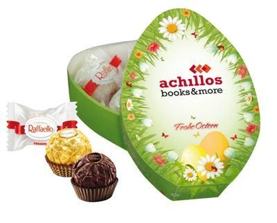Ostersüsswaren mit Werbeaufdruck