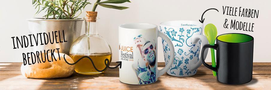 Werbe-Tassen bedrucken bei Promostore