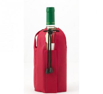 Roter Flaschenkühler