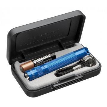 Blaue Mini-Maglite von Promostore als Werbeartikel bedrucken