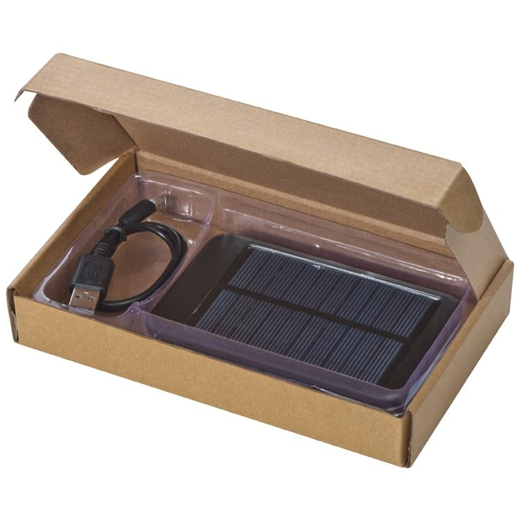 Solar Powerbank aus Metall 4000 mAh, Ansicht 3