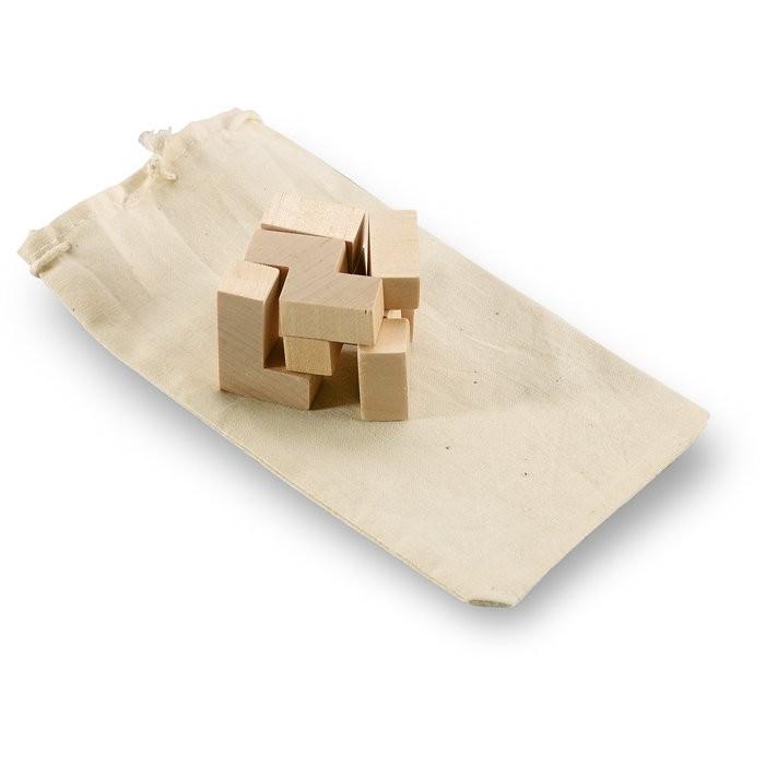 Holzpuzzle im Baumwollbeutel TRIKESNATS, Ansicht 3