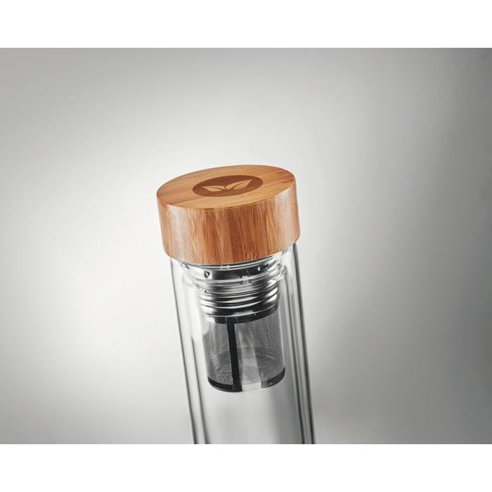 Doppelwandige Trinkflasche BATUMI GLASS, Ansicht 5