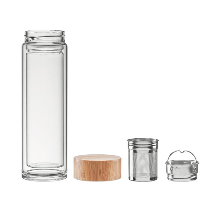 Doppelwandige Trinkflasche BATUMI GLASS, Ansicht 2