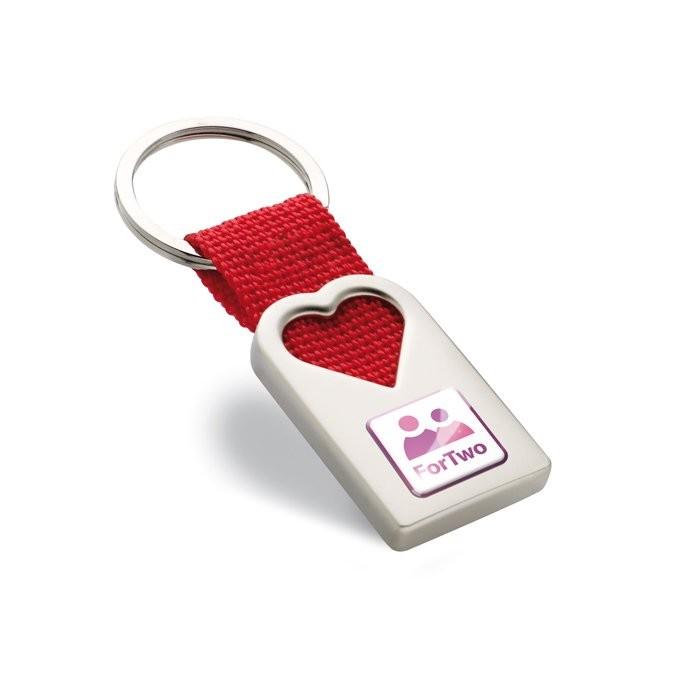 Schlüsselanhänger Herz BONHEUR, Ansicht 2