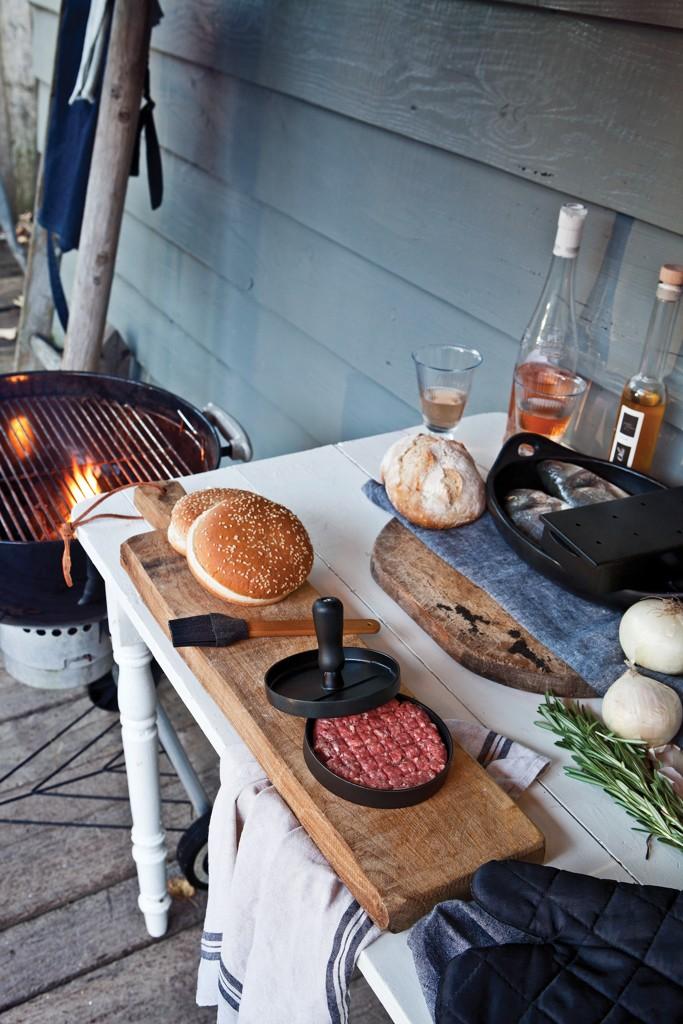 Grillset mit Hamburgerpresse und Marinadenpinsel, Ansicht 8
