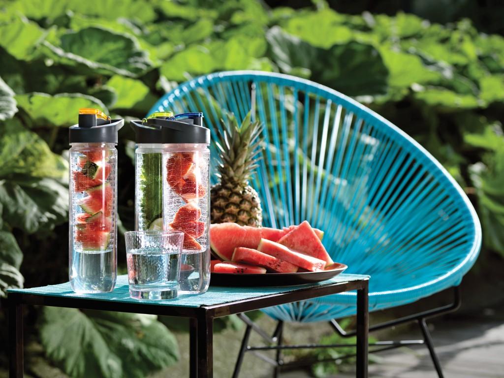 Wasserflasche mit Aromafach, 800ml, Ansicht 2