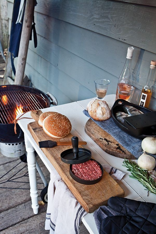 Grillset mit Hamburgerpresse und Marinadenpinsel, Ansicht 5
