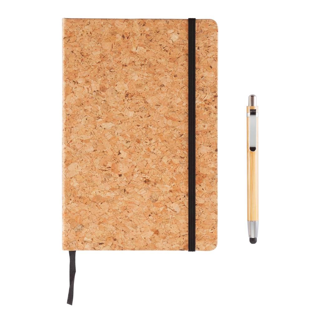 Kork A5 Notizbuch mit Bambus Stift und Stylus, Ansicht 13