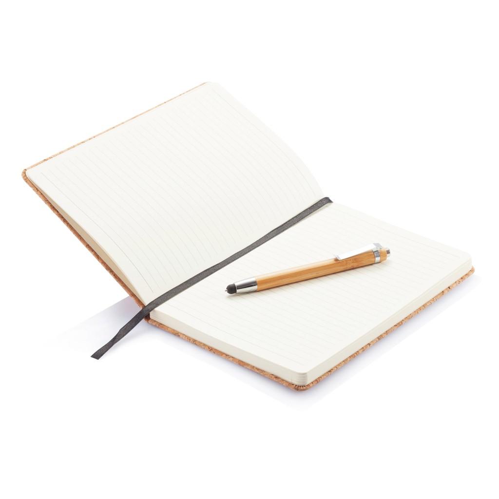 Kork A5 Notizbuch mit Bambus Stift und Stylus, Ansicht 8