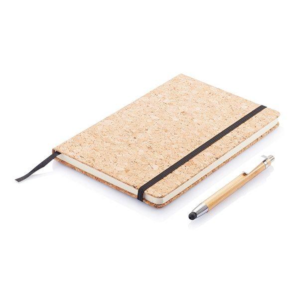 Kork A5 Notizbuch mit Bambus Stift und Stylus, Ansicht 4