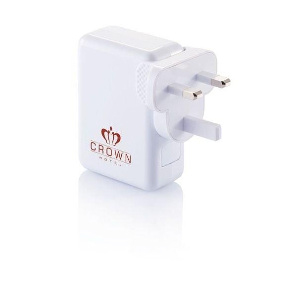 Reiseadapter mit 4fachem USB Anschluss, Ansicht 3