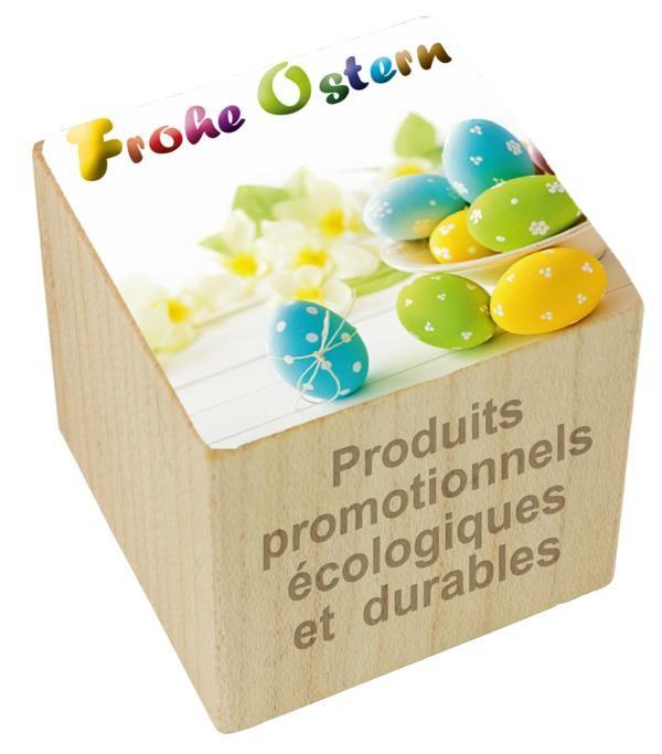 Pflanz-Holz Ostern inkl. Laserung auf zwei Seiten