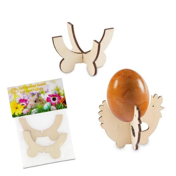 Steck-Eierbecher Huhn mit Lasergravur