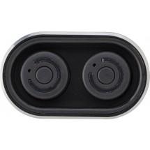 Powerbank 'Listen Up' mit zwei Wireless Kopfhörern - Schwarz