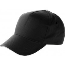 Baseball-Cap, 5 Panel - Schwarz
