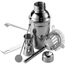 Cocktailshaker-Set, 5 tlg. - Silber