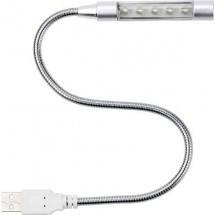 USB-Lampe 'Flexible' - Silber