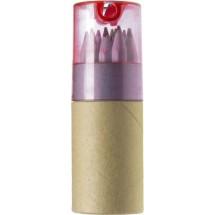 Buntstifte, 12er Set im Pappköcher - Rot