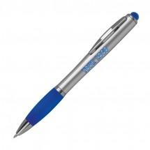 Kugelschreiber mit farbigem LED Licht - blau