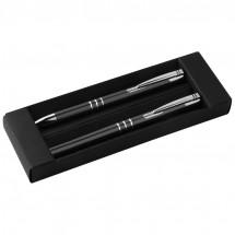 Schreibset Kugelschreiber und Rollerball - schwarz