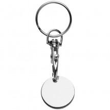 Schlüsselanhänger Einkaufswagenchip - Silber