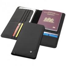 Odyssey RFID-Reisebrieftasche - Schwarz/blau