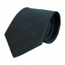 Krawatte, Reine Seide, jacquardgewebt - dunkelblau