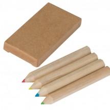 Set bestehend aus 4 Holzbuntstiften - braun