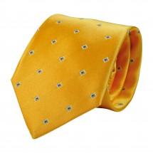 Krawatte, Reine Seide, jacquardgewebt - gelb