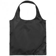 Bungalow faltbare Polyester Einkaufstasche - schwarz