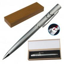 Laserpointer & LED mit Kugelschreiber - grau