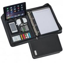 DIN A4 Schreibmappe mit Ringbuch - schwarz