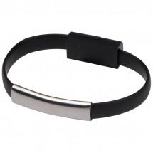 USB Armband mit 2in1 Stecker - schwarz