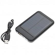 Solar Powerbank aus Metall 4000 mAh - schwarz