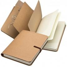 Notizbuch mit braunem Gummiband, 240 Seiten - braun