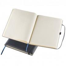 A4 Notizbuch mit Gummibandverschluss - schwarz