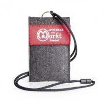 Smartphone-Tasche-Polyester-Label/Siebdruck