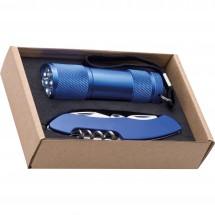 Set Taschenlampe & Taschenmesser Dover - blau