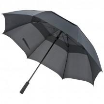 Golfschirm mit Windfang - schwarz