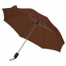 Taschenschirm mit Schutzhülle - braun