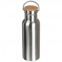 Trinkflasche aus Edelstahl - grau