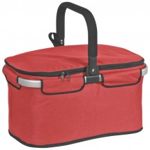 Luxus-Einkaufskorb mit Kühlfach - rot