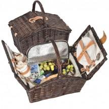 Picknickkoffer Weidengeflecht/2 Personen - braun