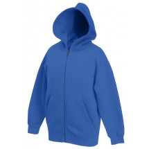 Kids Zip Through Hooded Sweat - royal