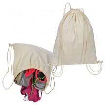 Gymbag aus Baumwolle - weiss