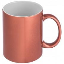 Tasse mit glänzender Ummantelung - rot