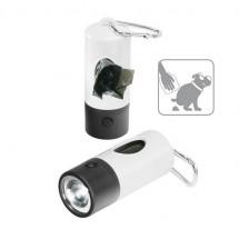 """""""Gassi""""-Taschenlampe, 1 LED (weiß) - weiß/schwarz"""